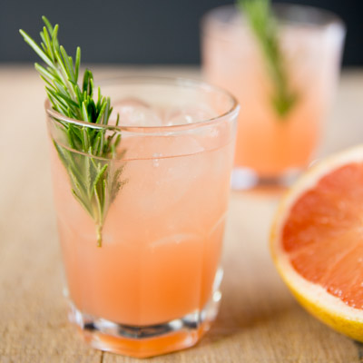 Rosemary Greyhound Cocktail tasteslovely.com  Sip your way to romantic bliss with these pink drinks recipes
