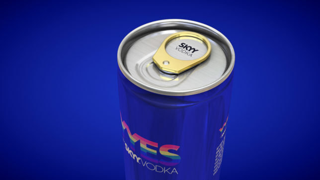Skyy Vodka celebrates marriage equality with engagement ring cans photo