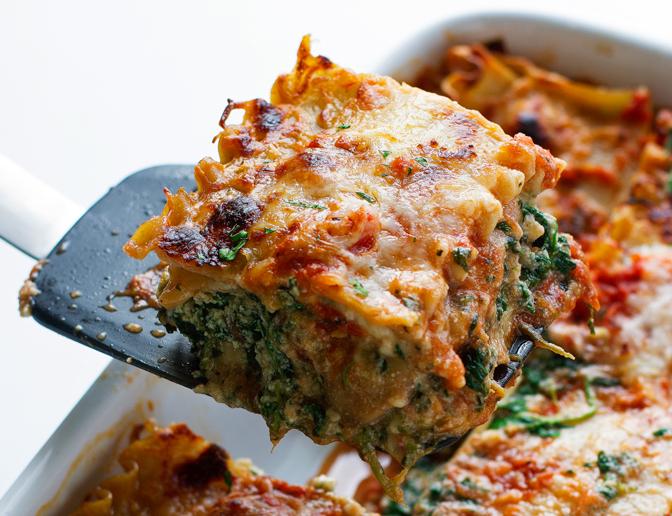 Skinny Mushroom Spinach Lasagna photo