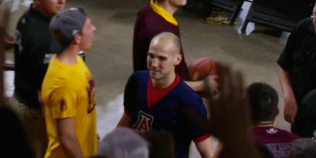 Arizona Cheerleader Gets Ejected For Heckling An Opponent During Free Throws photo