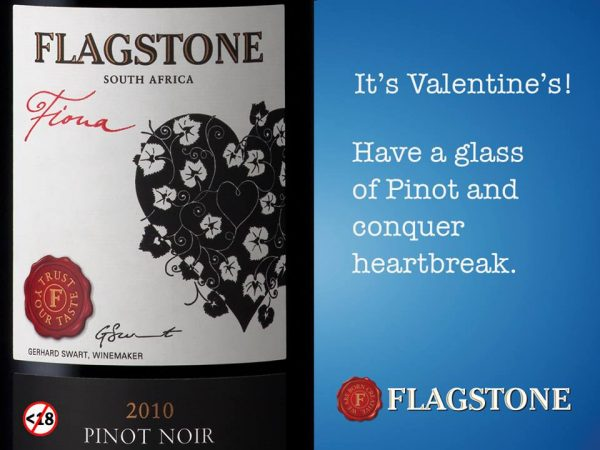 heartbreak e1517477461549 Conquer heartbreak with a glass of Flagstone Pinot Noir this Valentine`s Day