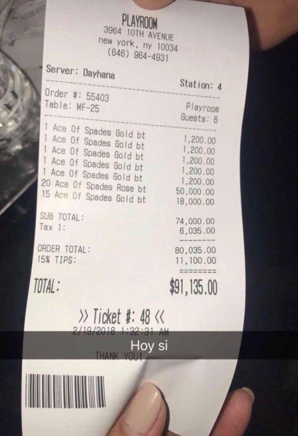 jayze e1519276156602 Jay Z racks up $100,000 bar bill in New York