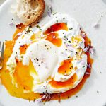 Poached Eggs with Yogurt and Spicy Butter photo