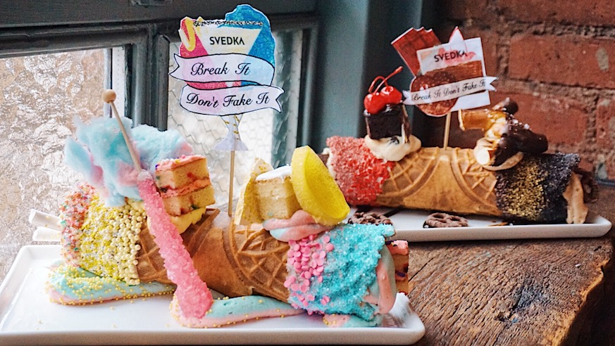 These Giant Rainbow Cannolis Are Also Filled Vodka photo