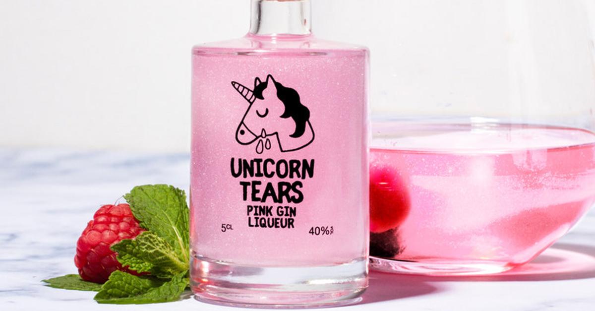 Is Pink, Glittery Unicorn Tears Gin The Joe Camel Of Liquor? photo