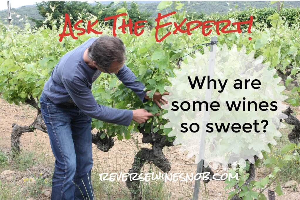 Why Are Some Wines So Sweet? Ask The Expert! ? Reverse Wine Snob® photo