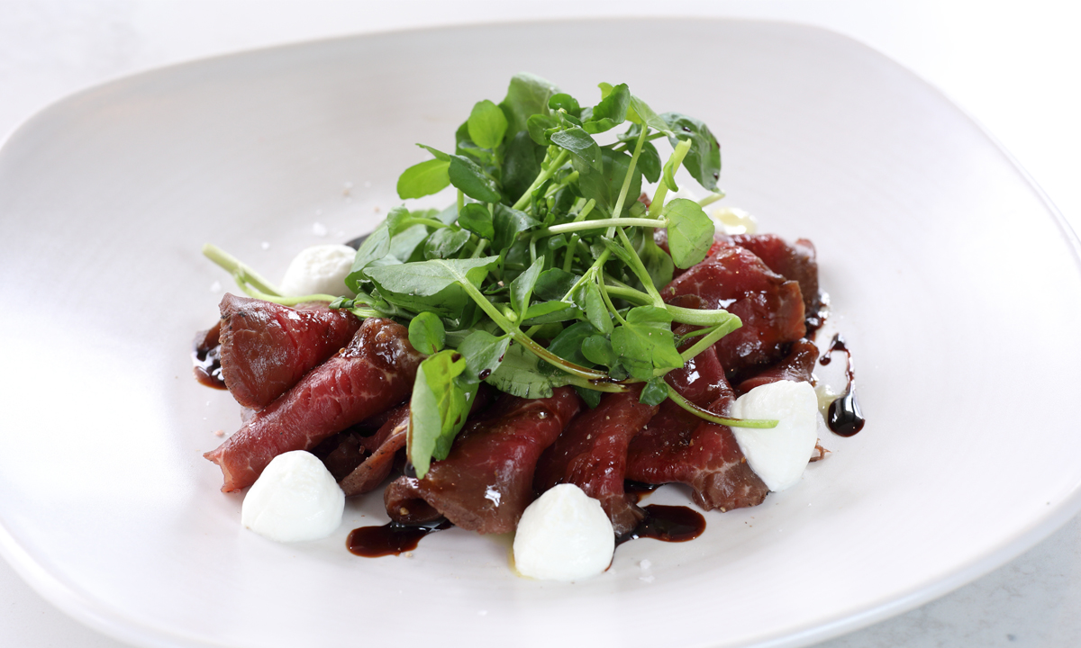 Seared Peppered Beef Carpaccio photo