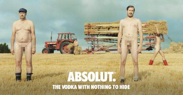 Absolut Wants To Know Where You Were Looking During Its Naked Vodka Advert photo