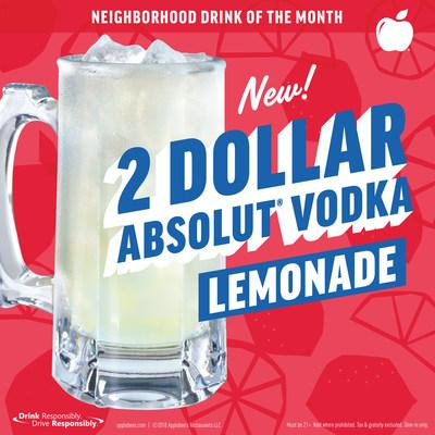 Applebee's: $2 Absolut Vodka Lemonades In March photo