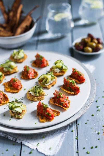 Dragon Carrot Crackers With Tomato Tartare photo