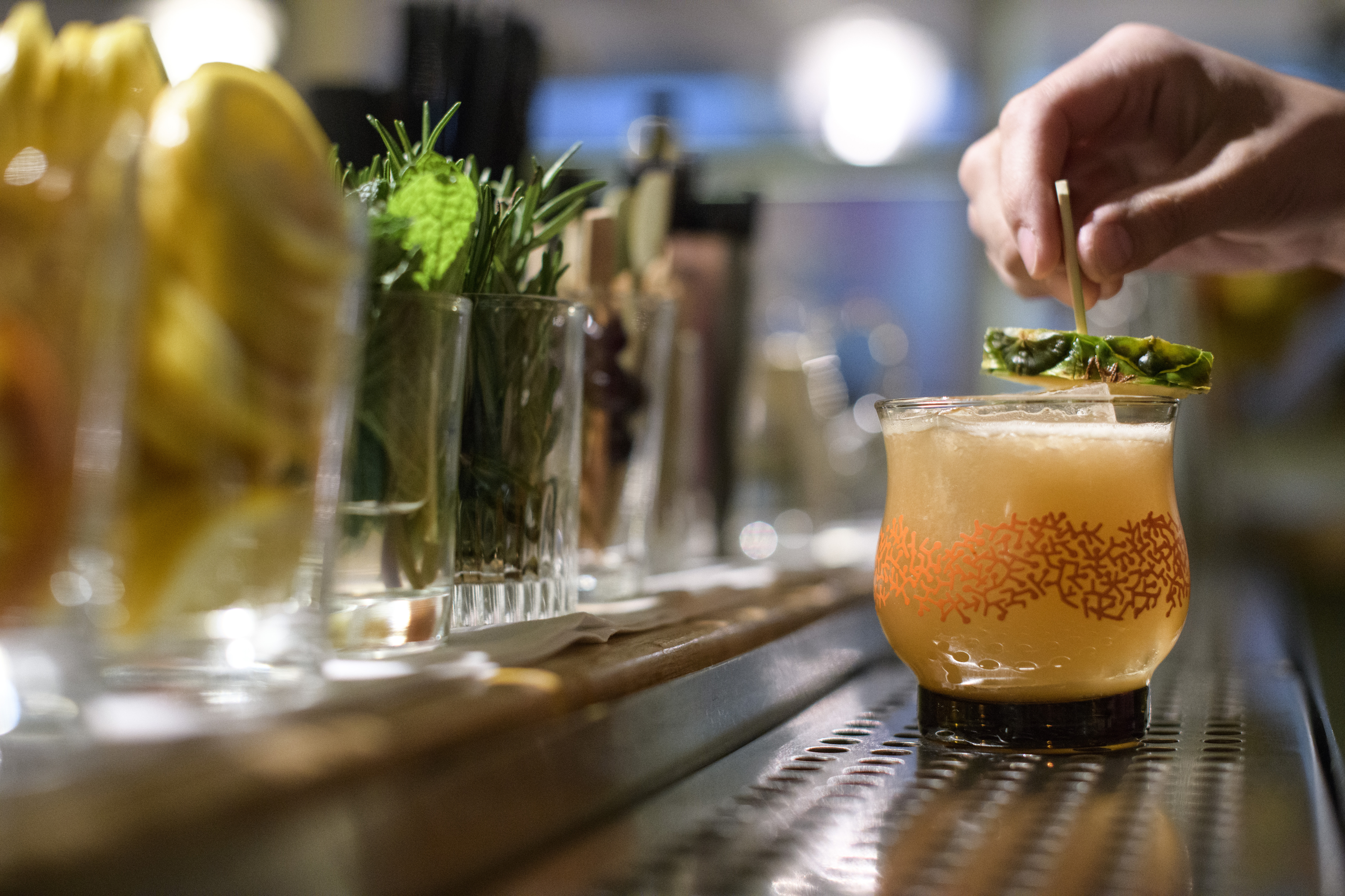 A Trendy Pineapple Cocktail photo