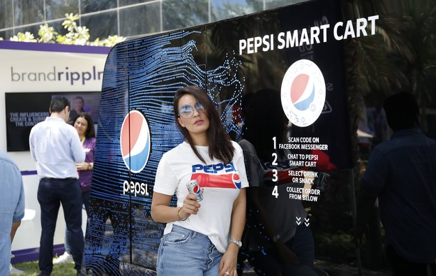 Pepsi's Innovative 'smart Cart' Is Pushing Futuristic Boundaries At Step 2018 photo