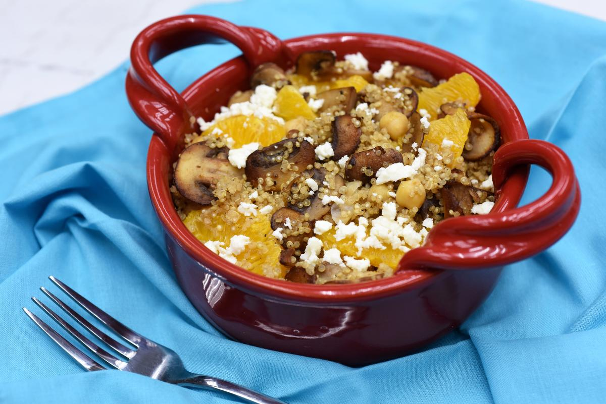 Get Out Of A Rut With This Mushroom And Orange Quinoa Bowl photo