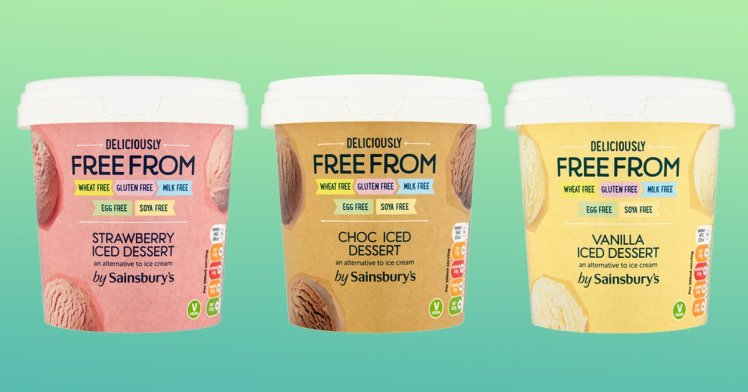 Sainsbury's Launches Three Flavours Of Free From Vegan Ice Cream photo