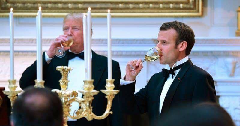 Very First State Dinner At The Trump White House For French President Emmanuel Macron And His Wife Brigitte, Usa/ France photo