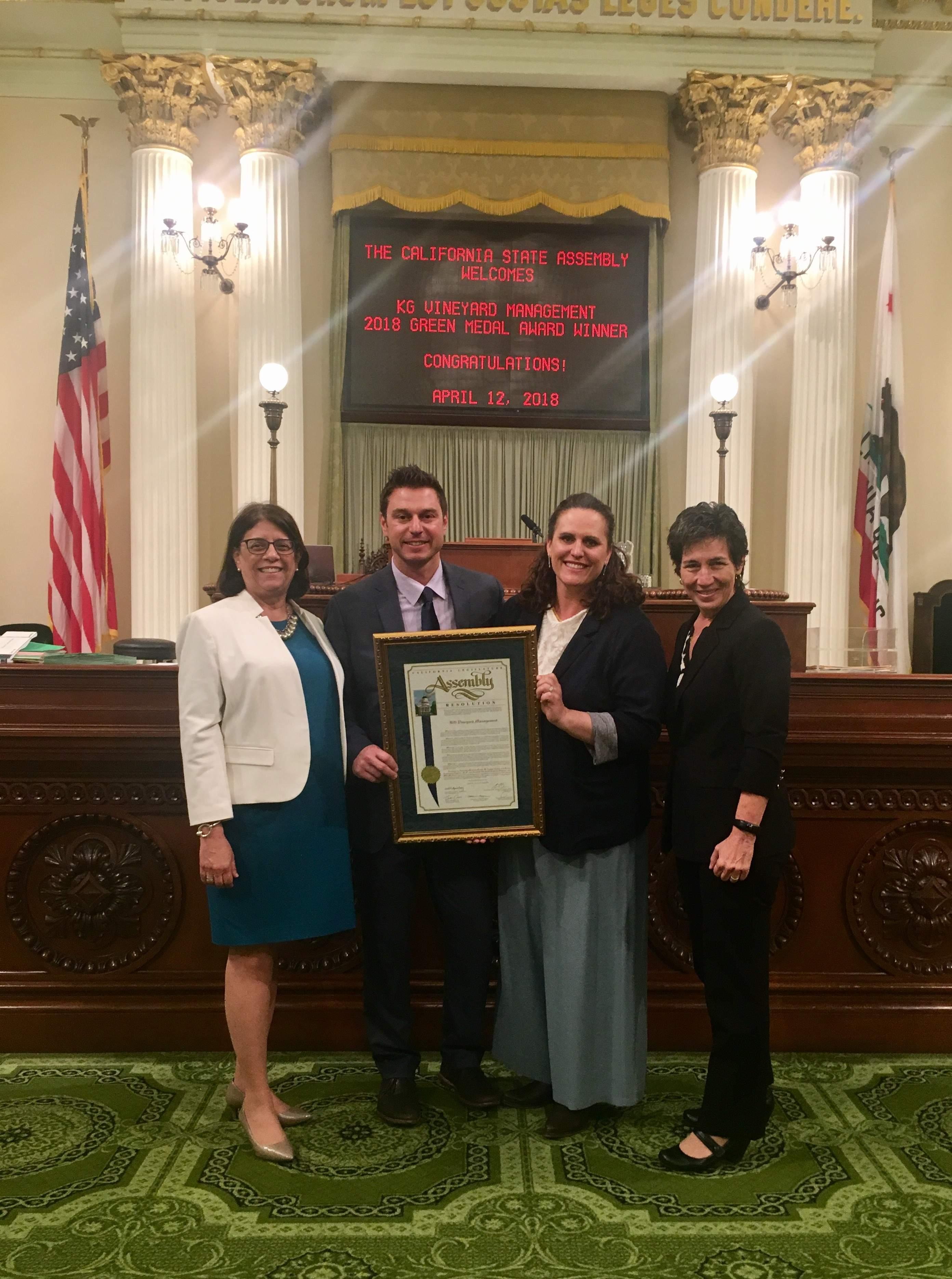 Wine Group Wins State Award photo