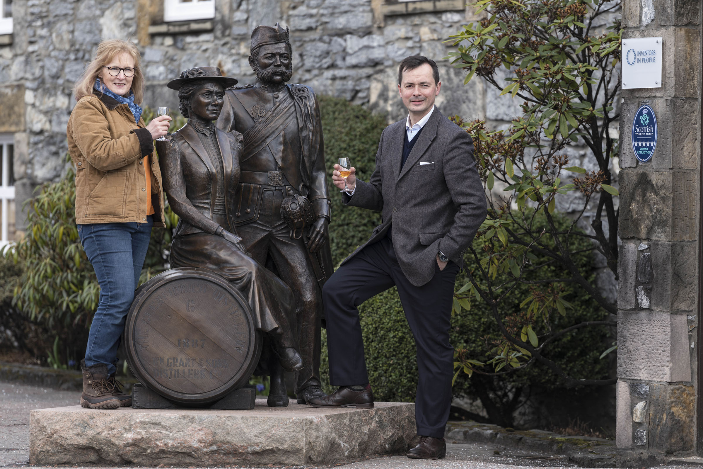 New Statue At Glenfiddich Celebrates The Distillery's Founding Family photo