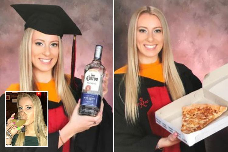 Student Poses With 'mentors' Tequila And Pizza In Her Graduation Pics… And She's Our New Hero photo