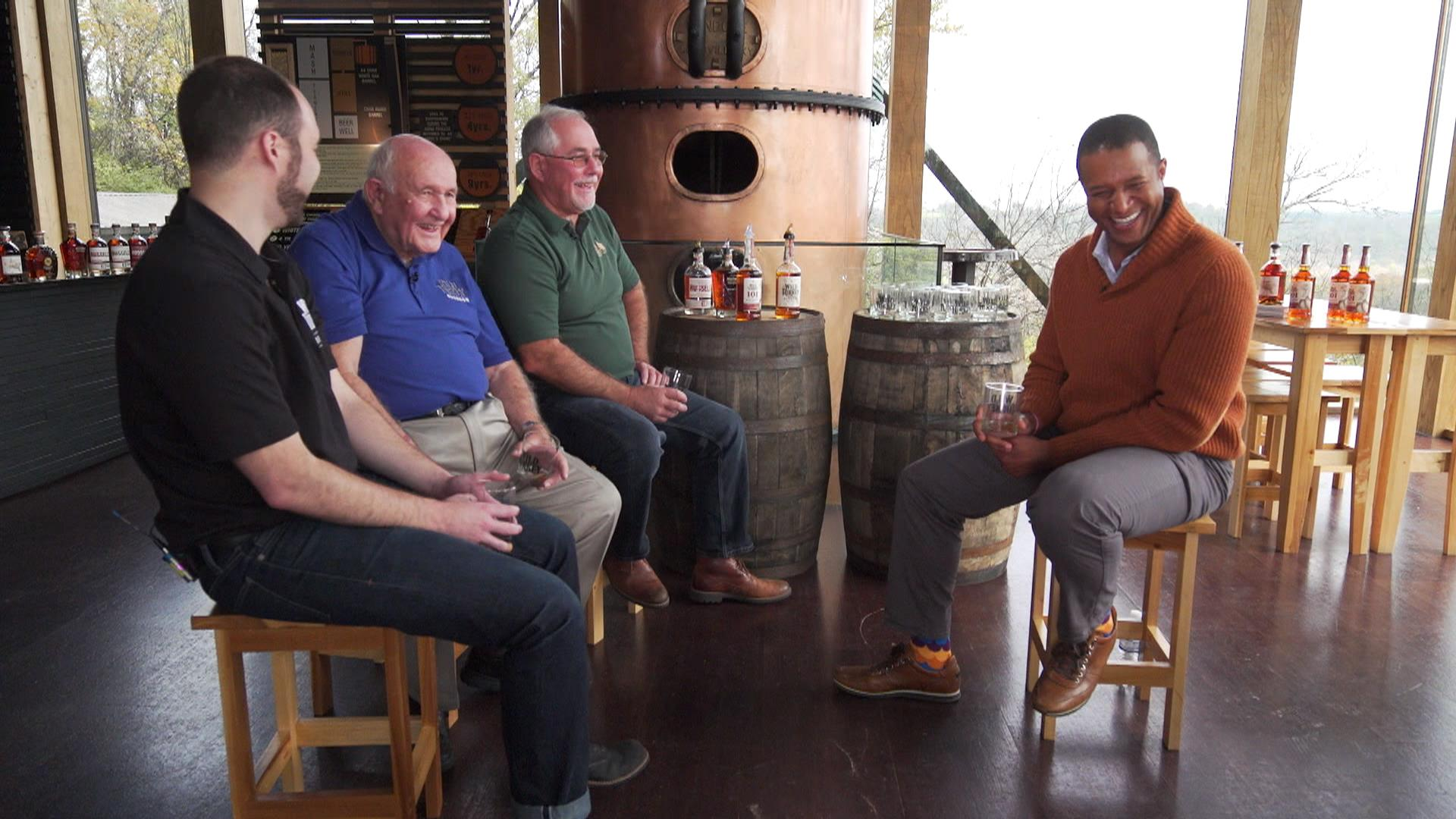 Craig Melvin Visits A Kentucky Distillery To Learn From A Bourbon Legend photo