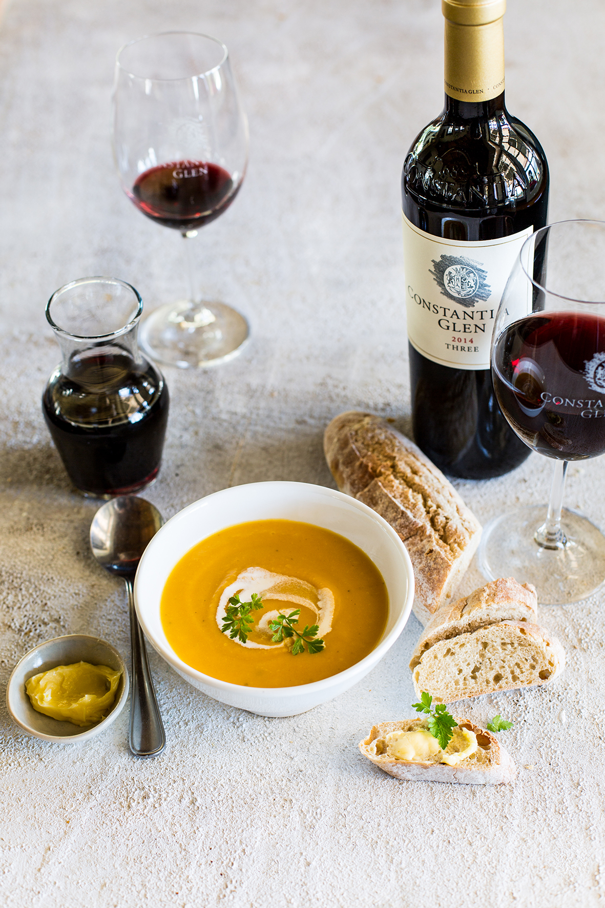 Soup And Wine Pairing At Constantia Glen photo