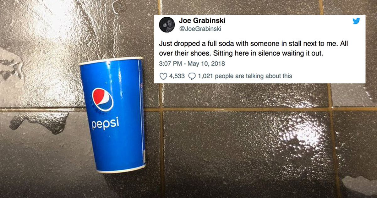 A Man Spilled A Soda In A Public Toilet And His Shame Went Viral photo