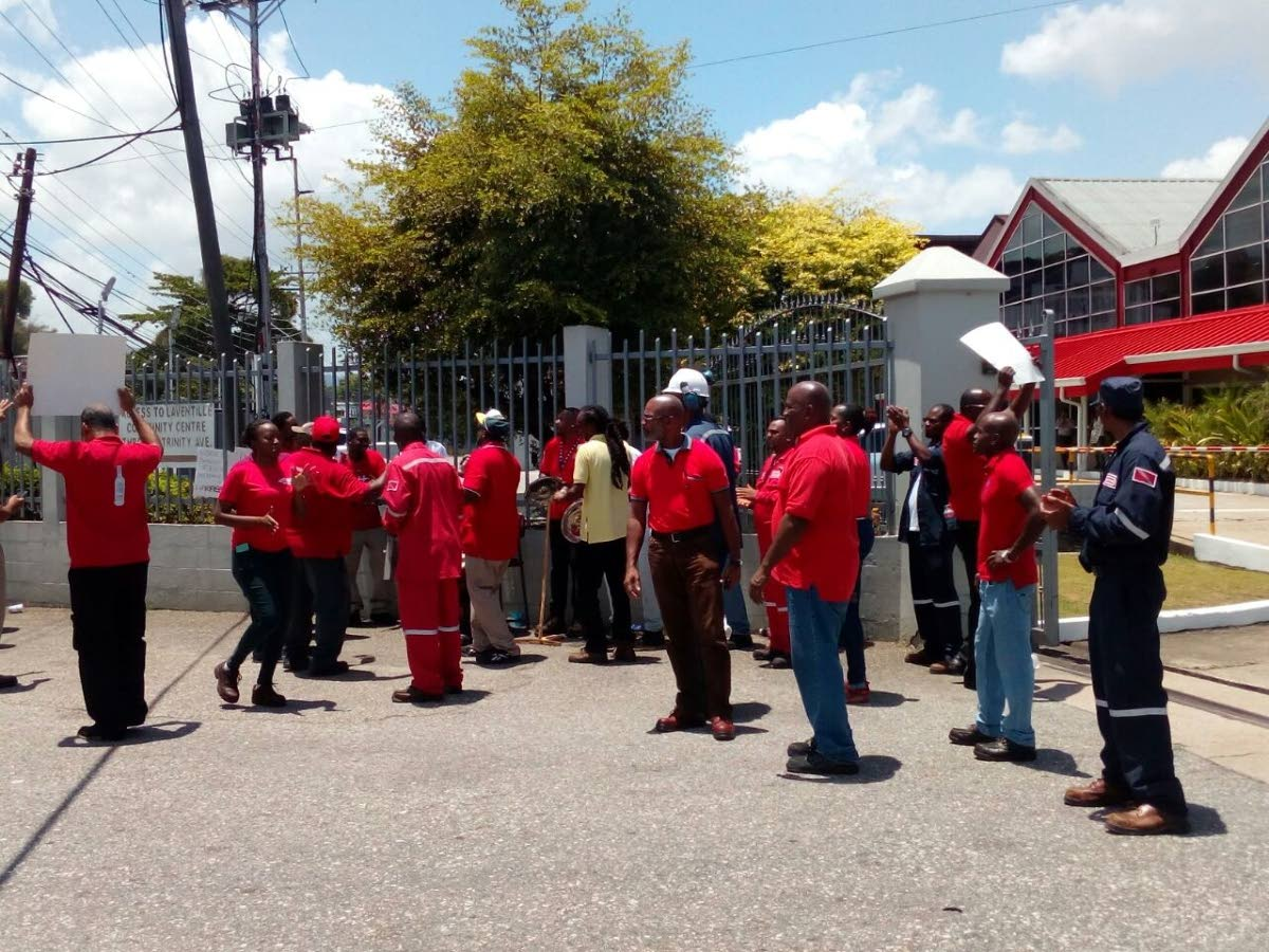 Staff Protest At Angostura Over Worker?s Suspension photo