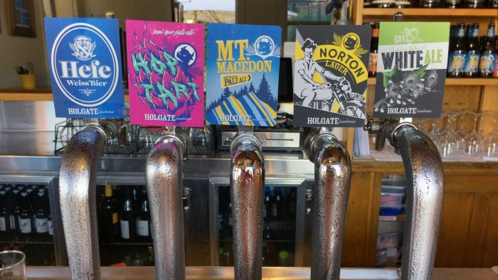 Beer Taps At Holgate Brewhouse In Victoria photo