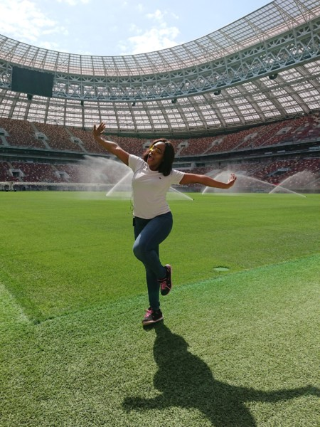 #bnrussiawithgoogle: Must-see Buildings, Traditional Russian Dishes + #fifa2018 Luzhniki Stadium… Read All About Mary Edoro's Moscow Experience! photo