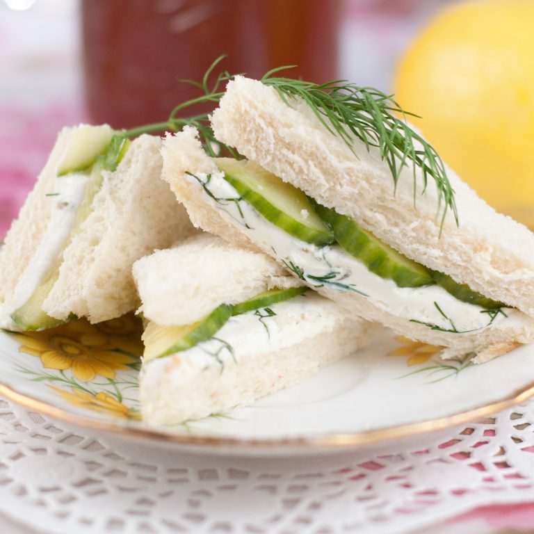 English Cucumber and Dill Tea Sandwiches Recipe 2 How To Throw The Ultimate Royal Wedding Party