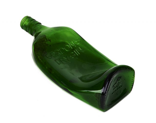 Two Melted Gordon?s Gin Bottles Sold At Auction For Over $13,000 photo