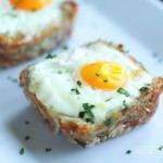 Cheesy Ham Hash Egg Cups photo