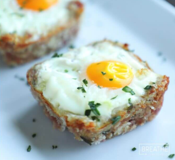 Cheesy Ham Hash Egg Cups photo