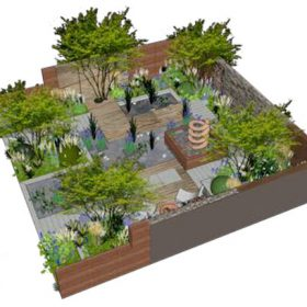 Silent Pool Gin Creates Botanical Garden For Chelsea Flower Show photo