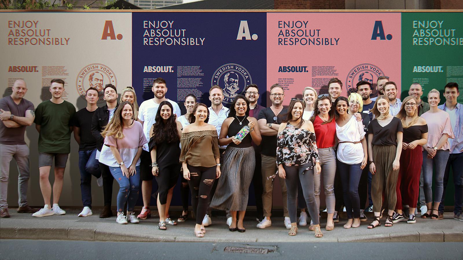 Absolut Vodka Likes Leeds Agency's Global Selfie photo