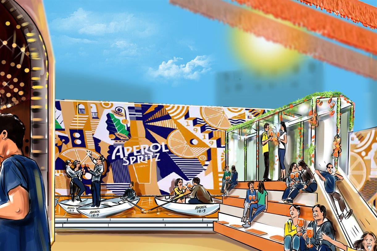 Aperol's Biggest Ever Uk Event Will Feature An Orange Canal photo