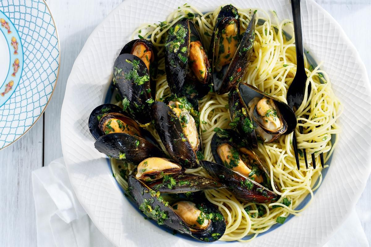 A Refreshing Capellini With Mussels And Anchovies photo