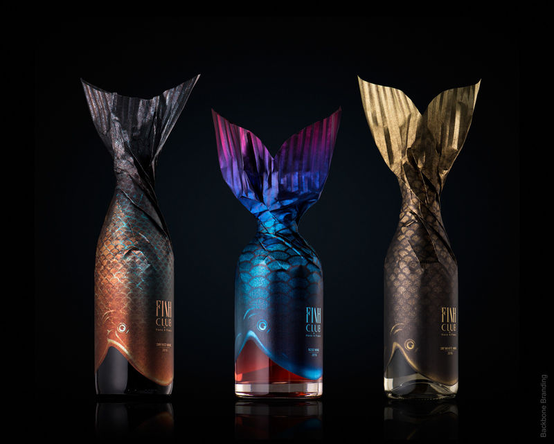 Packaging Spotlight: Fish Inspired Wine Bottles photo