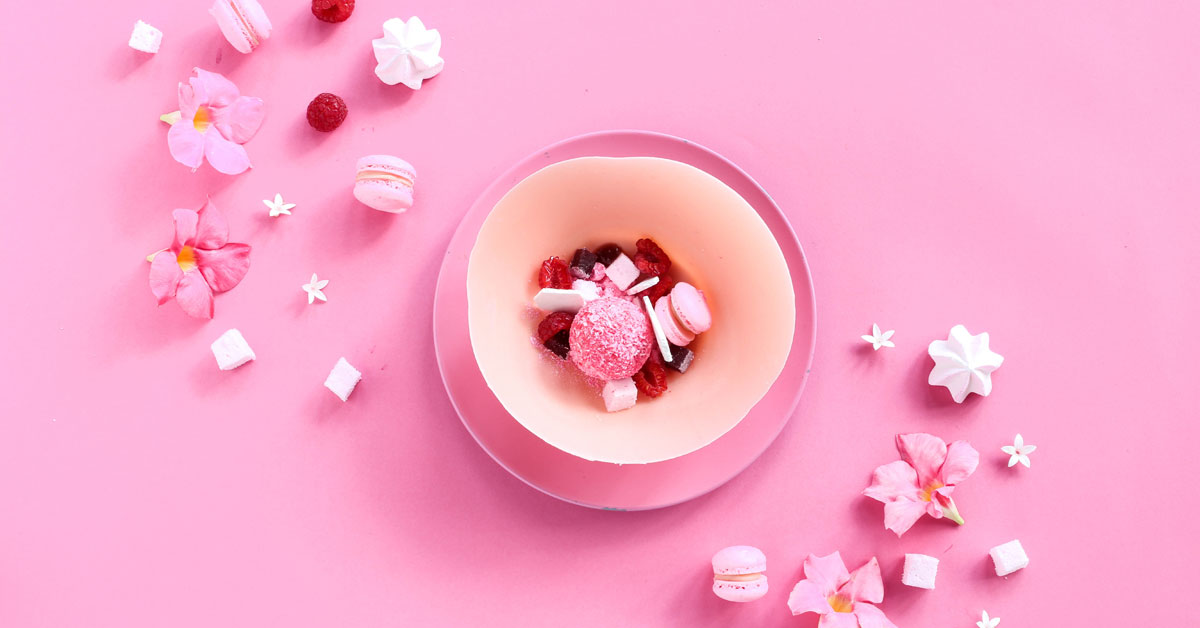 Pink Chocolate And Berries photo