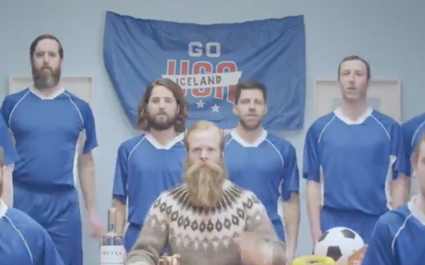 Soccer America Daily: World Cup Ads: Reyka Vodka Hopes Americans Will Adopt New Cheer: 'go Iceland' photo