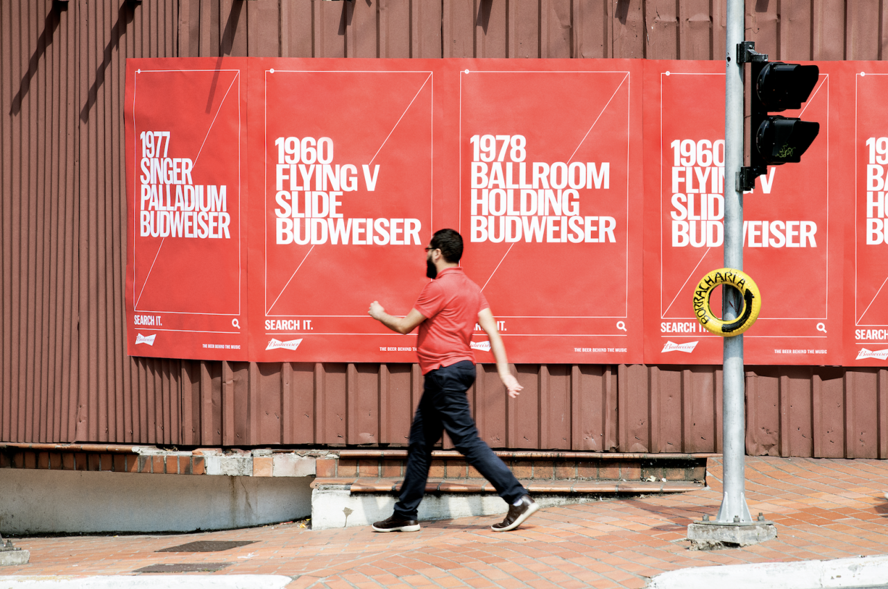 Budweiser Plays Up Its Music Cred In Search-oriented Ooh Campaign photo