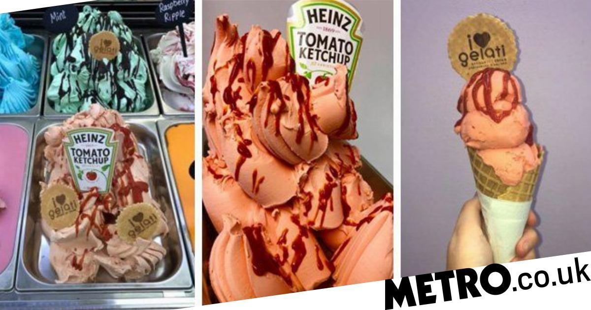 This Gelato Parlour Sells Heinz Tomato Ketchup Flavour Ice Cream photo