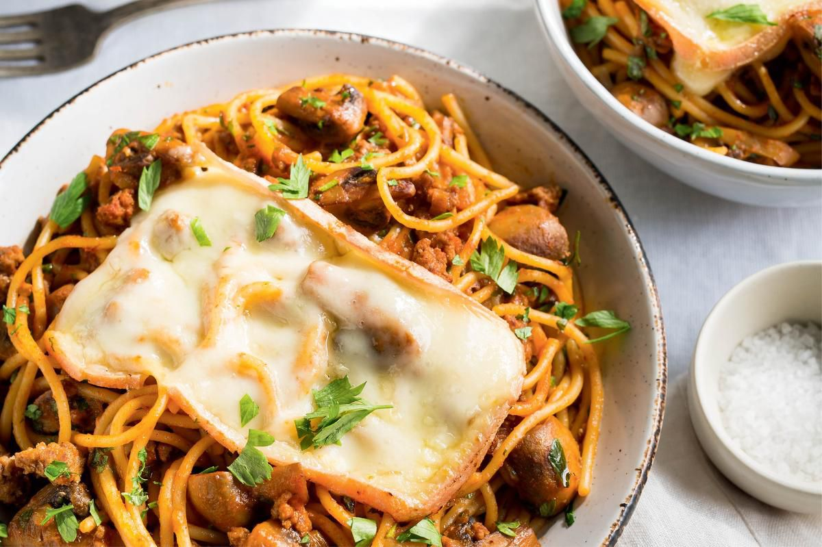 Upgrade Your Spaghetti With Veal And Mushrooms photo
