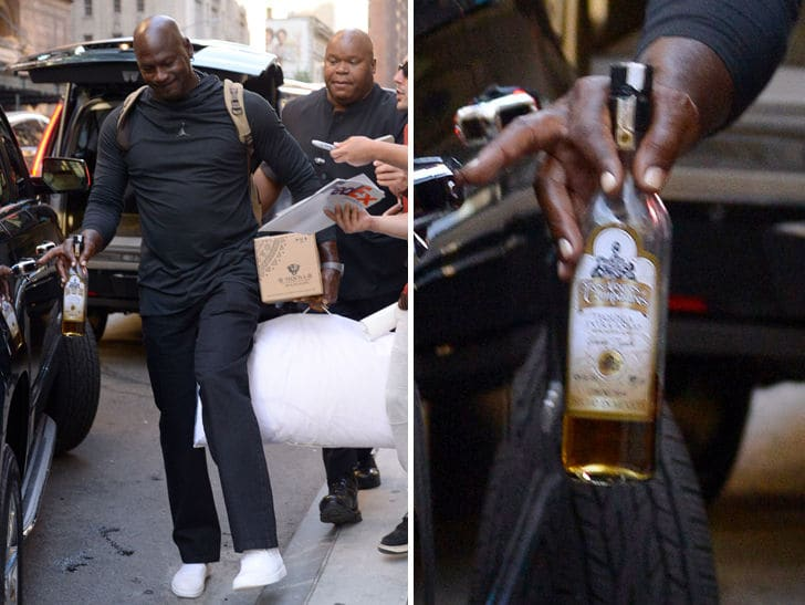 Michael Jordan Living That Tequila Life In Nyc photo