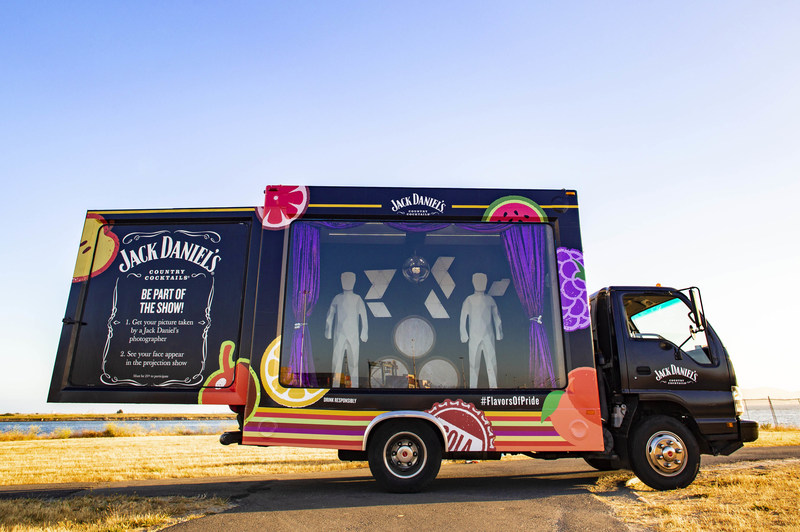 Jack Daniel's Country Cocktails Celebrates LGBTQ Diversity with World's First Projection Mapping Showtruck photo