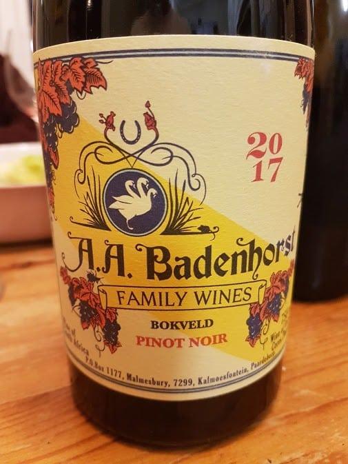 A.a. Badenhorst Bokveld Pinot Noir 2017 photo
