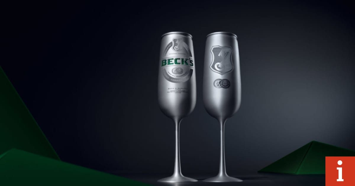 Introducing Le Beck?s, The Champagne-flute Shaped Beer Can Designed To ?revolutionise? Image Of Drinking Lager photo