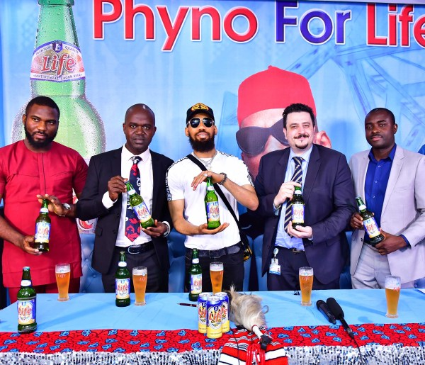 Life Lager Sign Unveil Rapper Phyno As New Brand Ambassador photo