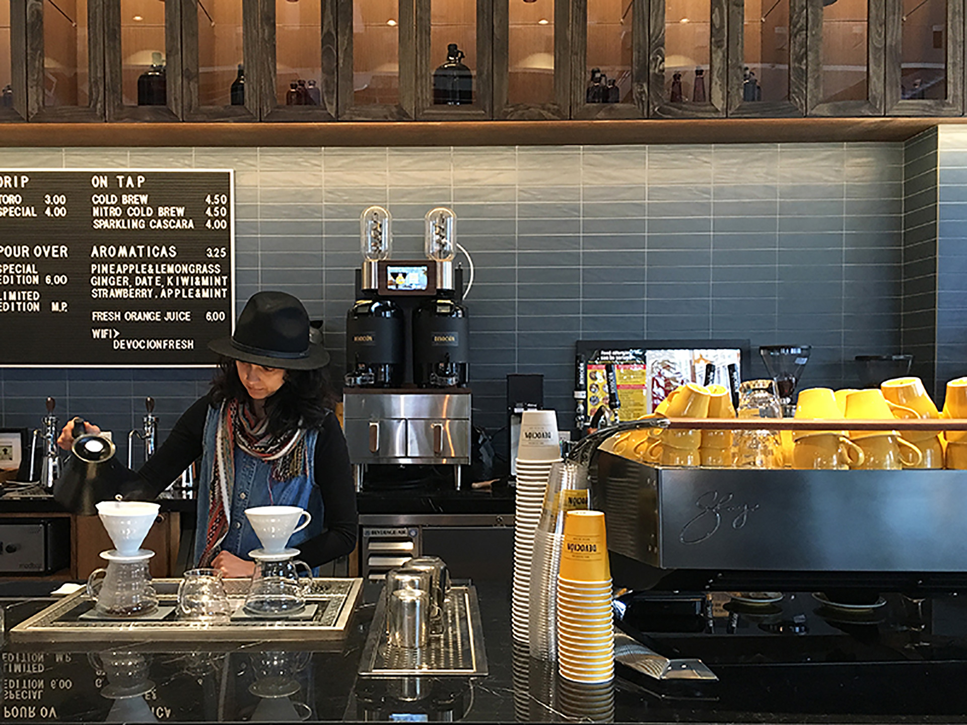 A Look At Voga Coffee's Ground Control Brewer At Devocíon In Brooklyn photo