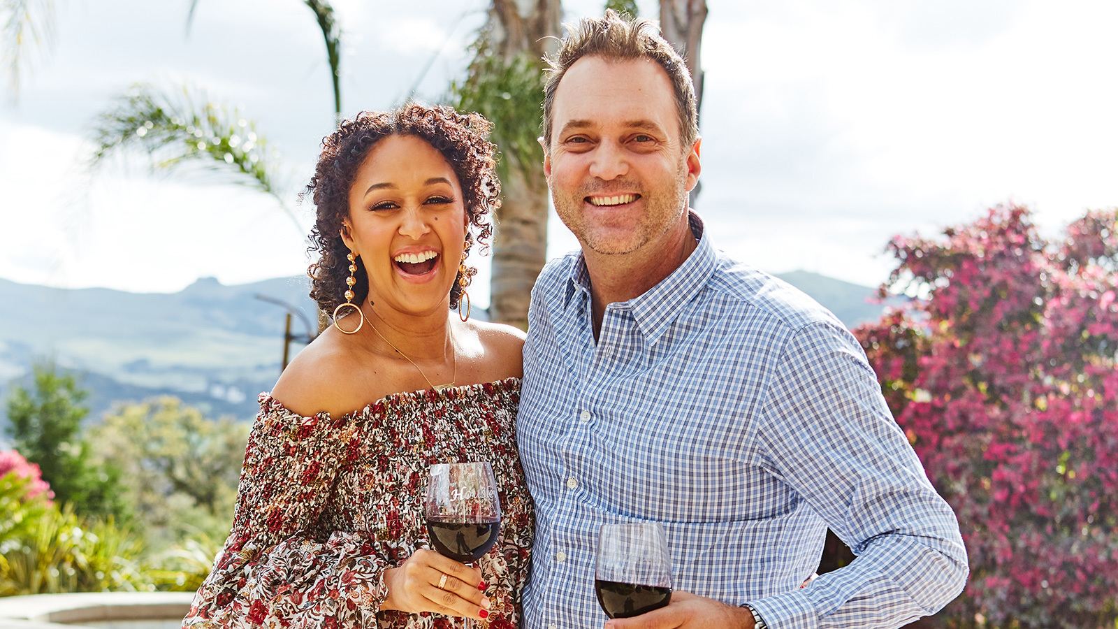 Wine & Design: Tamera Mowry-housley And Adam Housley At Home photo