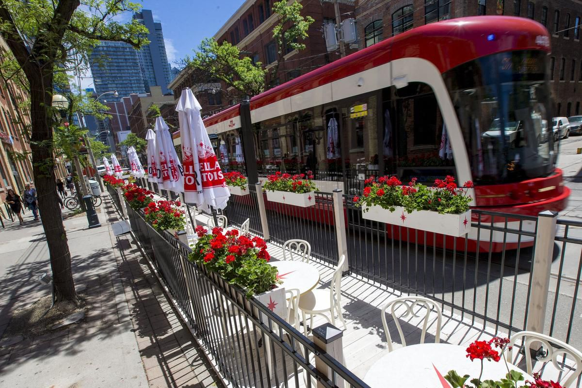Curbside Patios Pop Up On King Street As City Waives Application Fees photo